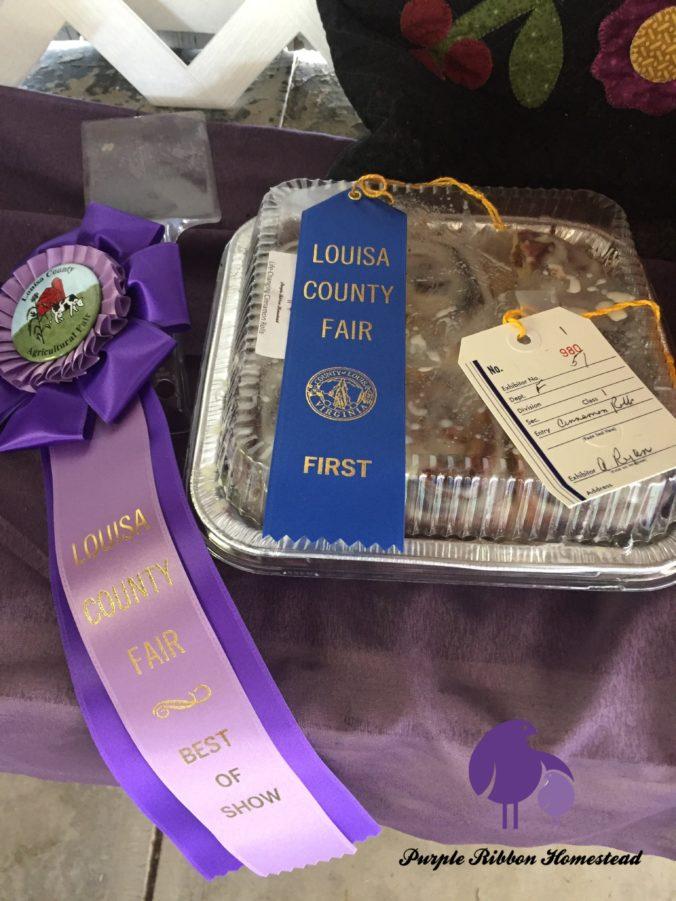 Best in Show Cinnamon Rolls - Purple Ribbon Homestead